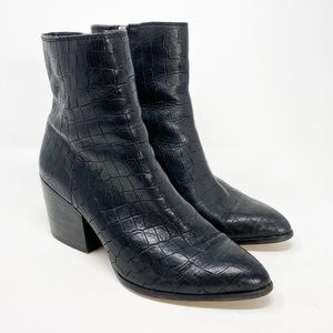 1. State | Jahmil Croc Embossed Leather Boots